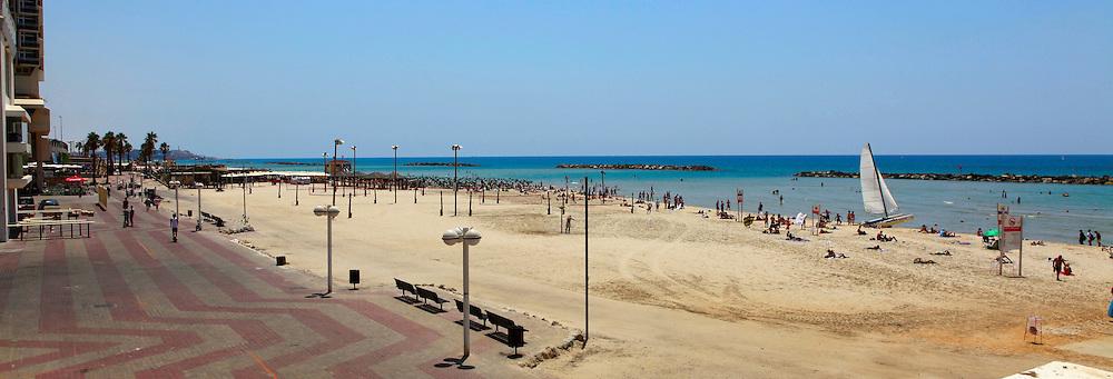Tel Aviv beach panorama