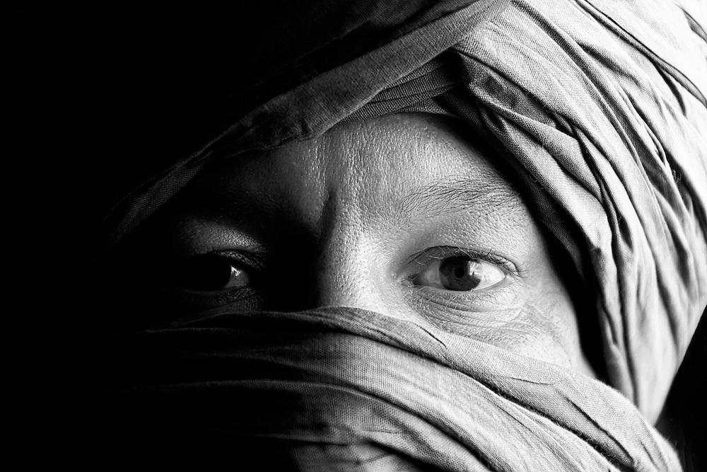 Portrait of a Moroccan man.