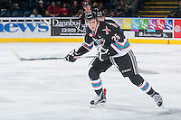 KELOWNA, CANADA - DECEMBER 4: Cole Linaker #26 of Kelowna Rockets skates against the Medicine Hat Tigers on December 4, 2015 at Prospera Place in Kelowna, British Columbia, Canada.  (Photo by Marissa Baecker/Shoot the Breeze)  *** Local Caption *** Cole Linaker;