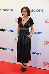 Jessica Brown Findlay poses as arriving for the opening ceremony of the MIPCOM in Cannes - Marche international des contenus audiovisuels du 16-19 Octobre 2017, Palais des Festivals, Cannes, France.<br />