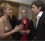 Talk editor Tina Brown with actors Hugh Grant and Kristen Scott Thomas at the Talk pre-Golden Globes party. Mondrian Hotel. West Hollywood, California USA20 January 2001. © Copyright Photograph by Dafydd Jones 66 Stockwell Park Rd. London SW9 0DA Tel 020 7733 0108 www.dafjones.com Contact: Lisa Dallos 212-641-3582