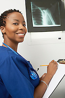 Female nurse working in hospital,portrait