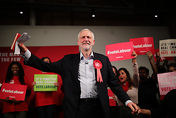 © Licensed to London News Pictures. 11/12/2019. London, UK. Labour Party Leader Jeremy Corbyn at a rally in Hoxton, East London. Voters will head to polling stations tomorrow for the 2019 General Election. Photo credit: Rob Pinney/LNP