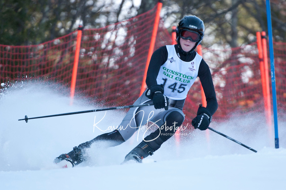 1st run of the Gus Pitou Memorial Giant Slalom at Gunstock, Gilford, NH
