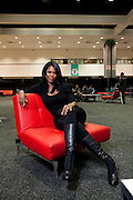 "Los Angeles, California: Omarosa (Celebrity Apprentice) backstage in the VIP section at ""Reality Rocks: Los Angeles"" first reality show convention, 4/10/11 (Photo: Ann Summa)."