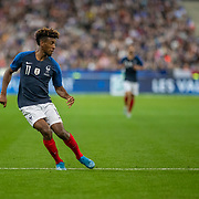 PARIS, FRANCE - September 10:  Kingsley Coman #11 of France in action during the France V Andorra, UEFA European Championship 2020 Qualifying match at Stade de France on September 10th 2019 in Paris, France (Photo by Tim Clayton/Corbis via Getty Images)