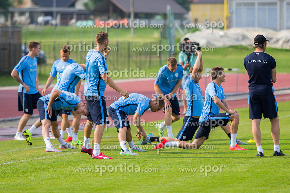 Slovenian players during practice session of Slovenian National Football Team before Euro 2016 Qualifications match against England, on June 11, 2015 in Kranj, Slovenia. Photo by Ziga Zupan / Sportida
