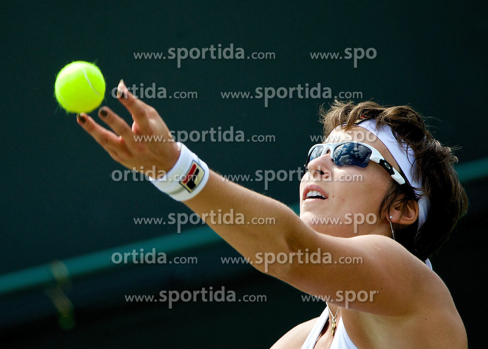 01.07.2014, All England Lawn Tennis Club, London, ENG, WTA Tour, Wimbledon, Tag 8, im Bild Yaroslava Shvedova (KAZ) //during day 8 the Wimbledon Championships at the All England Lawn Tennis Club in London, Great Britain on 2014/07/01. EXPA Pictures &copy; 2014, PhotoCredit: EXPA/ Propagandaphoto/ David Rawcliffe<br /> <br /> *****ATTENTION - OUT of ENG, GBR*****