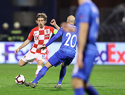Zagreb, March 21, 2019  Luka Modric of Croatia during the UEFA Euro 2020 group E qualifying match between Croatia and Azerbaijan at the Maksimir stadium in Zagreb, Croatia, on March 21, 2019. Croatia won 2:1. (Credit Image: © Jurica Galoic/Pixsell/Xinhua via ZUMA Wire)