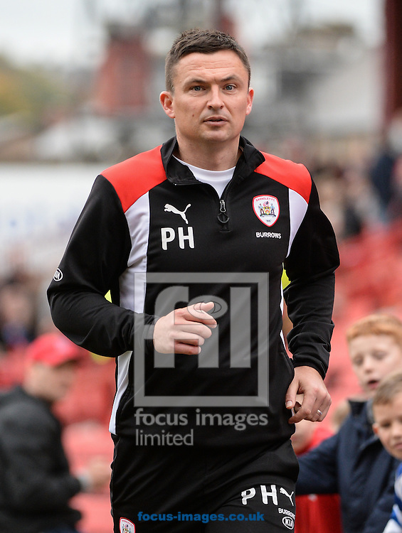 Paul Heckingbottom Manager of Barnsley  during the Sky Bet Championship match at Oakwell, Barnsley<br /> Picture by Richard Land/Focus Images Ltd +44 7713 507003<br /> 29/10/2016