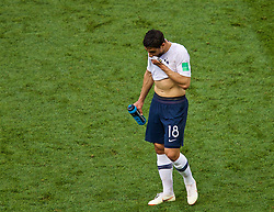 MOSCOW, RUSSIA - Tuesday, June 26, 2018: France's substitute Nabil Fekir after his side's goal-less draw during the FIFA World Cup Russia 2018 Group C match between Denmark and France at the Luzhniki Stadium. (Pic by David Rawcliffe/Propaganda)