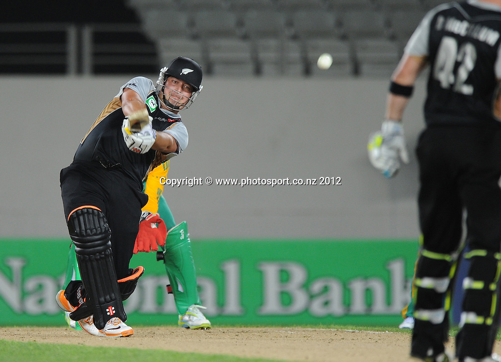 Jesse Ryder batting during the 3rd and final InternationaI Twenty20 cricket match between New Zealand Black Caps and South Africa at Seddon Park, Hamilton, New Zealand on Wednesday 22 February 2012. Photo: Andrew Cornaga/Photosport.co.nz