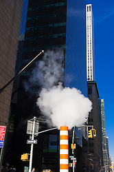 Steam vent on a street corner in New York City