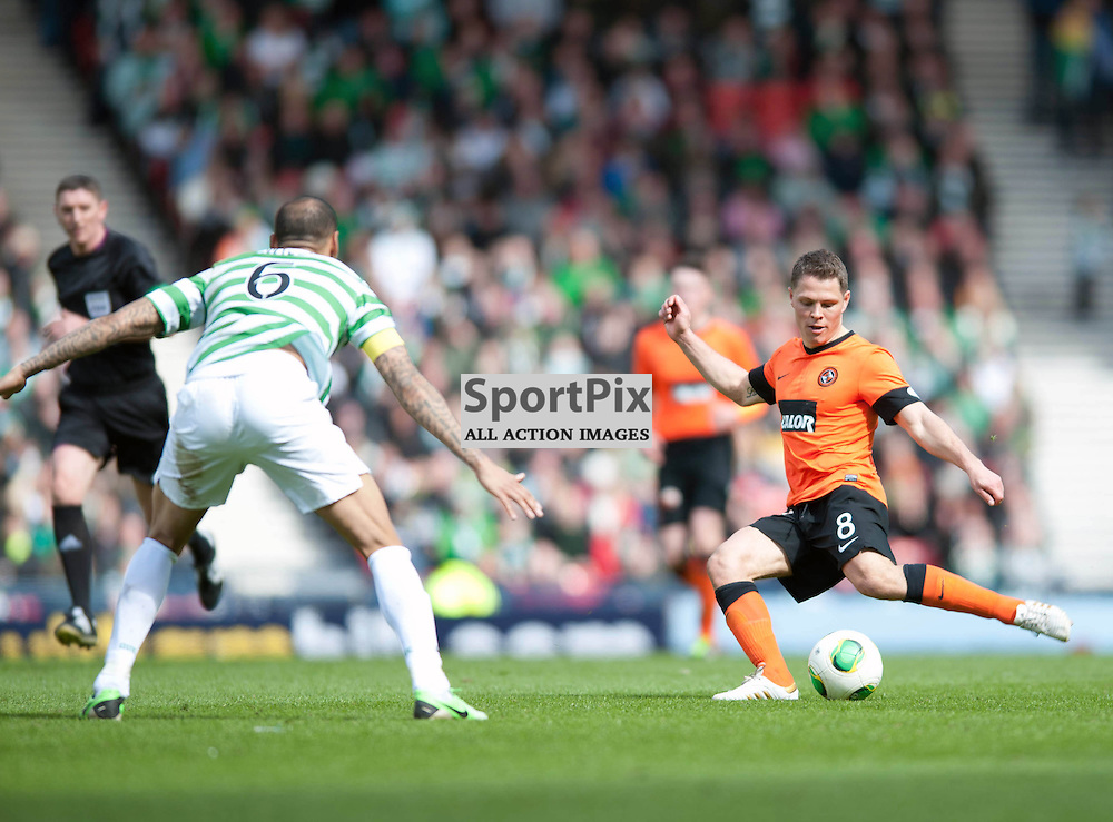 John Rankin shoots at goal. Dundee Utd v Celtic, William Hill Scottish Cup Semi Final, Hampden Park, Sunday 14 April 2013 (c) ANGIE ISAC | StockPix.eu