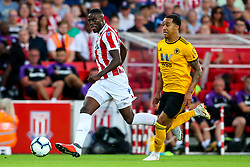 Bruno Martins Indi of Stoke City takes on Helder Costa of Wolverhampton Wanderers - Mandatory by-line: Robbie Stephenson/JMP - 25/07/2018 - FOOTBALL - Bet365 Stadium - Stoke-on-Trent, England - Stoke City v Wolverhampton Wanderers - Pre-season friendly