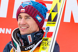 25.03.2018, Planica, Ratece, SLO, FIS Weltcup Ski Sprung, Planica, Skiflug, Einzelbewerb, Finale, im Bild Gesamtweltcupgewinner Kamil Stoch (POL) // Overall Worldcup Winner Kamil Stoch of Poland during the Ski Flying Hill individual competition of the FIS Ski Jumping World Cup Final 2018 at Planica in Ratece, Slovenia on 2018/03/25. EXPA Pictures © 2018, PhotoCredit: EXPA/ JFK
