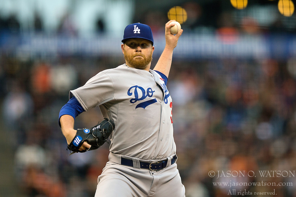 SAN FRANCISCO, CA - MAY 20:  Brett Anderson #35 of the Los Angeles Dodgers pitches against the San Francisco Giants during the first inning at AT&T Park on May 20, 2015 in San Francisco, California.  (Photo by Jason O. Watson/Getty Images) *** Local Caption *** Brett Anderson