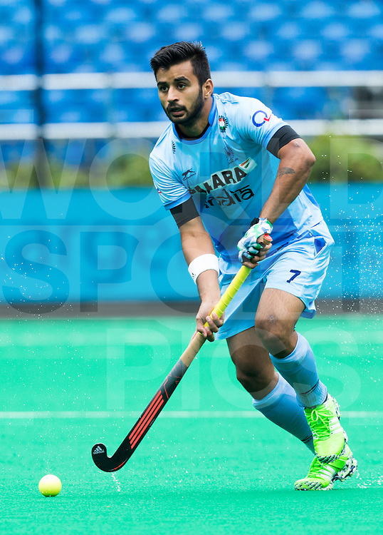 ANTWERP -   Indian Manpreet Singh  during  the match India v Poland (3-0)  WSP COPYRIGHT KOEN SUYK