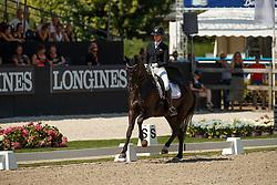 Cassoe Krüth Carina, DEN, Heiline's Danciera<br /> World ChampionshipsYoung Dressage Horses<br /> Ermelo 2018<br /> © Hippo Foto - Dirk Caremans<br /> 03/08/2018