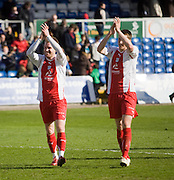 Rhys Weston and Craig Forsyth celebrate - Ross County v Dundee - IRN BRU Scottish Football League First Division at Victoria Park<br /> <br /> <br /> <br /> http://www.davidyoungphoto.co.uk