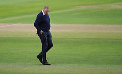 Angus Fraser, Middlesex managing Director for cricket looks at the pitch.  - Mandatory by-line: Alex Davidson/JMP - 10/07/2016 - CRICKET - Cooper Associates County Ground - Taunton, United Kingdom - Somerset v Middlesex - Specsavers County Championship Division One
