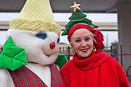Angela Hill, former anchor at WWL TV at  the sixth annual Krewe of Jingel New Orleans Christmas Parade. New Orleans has becom e one of the top tourist holiday destinations in the America.