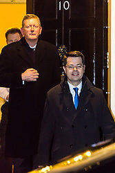 London, December 11 2017. Secretary of State for Northern Ireland James Brokenshire leaves an after hours meeting with Secretary of State for Exiting the European Union David Davis at 10 Downing Street. © Paul Davey