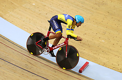 Ukraine's Timur Maleev in the men's 4000m individual pursuit qualifying during day four of the 2018 European Championships at the Sir Chris Hoy Velodrome, Glasgow. PRESS ASSOCIATION Photo. Picture date: Sunday August 5, 2018. See PA story CYCLING European. Photo credit should read: John Walton/PA Wire. RESTRICTIONS: Editorial use only, no commercial use without prior permission