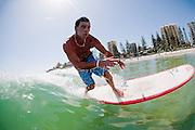2012, February 10: Dane Pioli surfs at Rainbow Bay on the southrn end of the Gold Coast, Queensland, Australia on Friday February 10th, 2012. (Photo: Matt Roberts/OOL media)