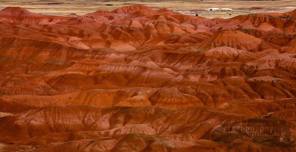 Photo by Gary Cosby Jr.  ..Painted hills along Arizona Highway 191 south of Chinle, Arizona.