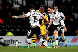 Gohi Bi Cyriac of Fulham takes on Bradley Johnson of Derby County - Mandatory by-line: Robbie Stephenson/JMP - 04/04/2017 - FOOTBALL - Pride Park Stadium - Derby, England - Derby County v Fulham - Sky Bet Championship