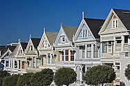 Victoria style homes (Six Sisters) from Alamo Square, San Francisco, California