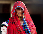 Colourful woman. Rajasthan, India.