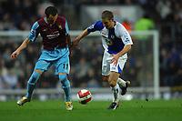 Photo: Paul Greenwood.<br />Blackburn Rovers v West Ham United. The Barclays Premiership. 17/03/2007.<br />West Ham's Matthew Etherington, (L) battles for posession with David Bentley