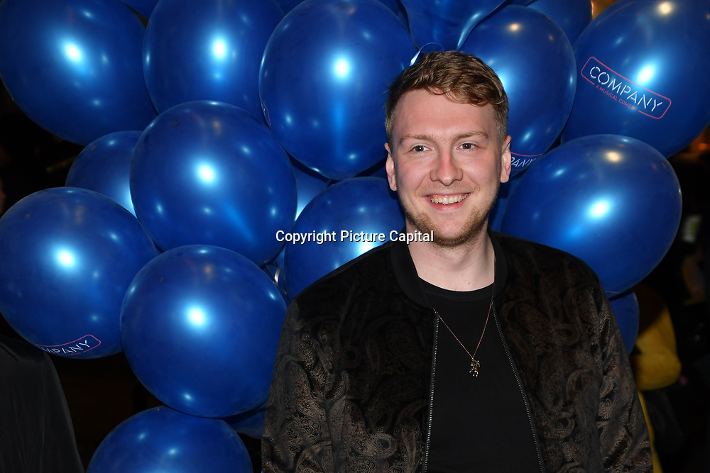 Joe Lycett attend the Company - Opening Night at Gielgud Theatre, London, UK. 17 October 2018.
