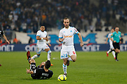 Valere Germain of Olympique de Marseille during the French Championship Ligue 1 football match between Olympique de Marseille and Olympique Lyonnais on march 18, 2018 at Orange Velodrome stadium in Marseille, France - Photo Philippe Laurenson / ProSportsImages / DPPI