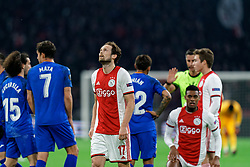 Daley Blind #17 of Ajax action during the Europa League match R32 second leg between Ajax and Getafe at Johan Cruyff Arena on February 27, 2020 in Amsterdam, Netherlands