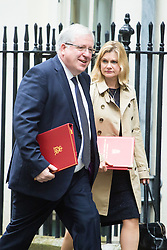 Downing Street,  London, June 27th 2015. Transport Secretary Patrick McLoughlin and International Development Secretary Justine Greening arrive for the first post-Brexit cabinet meeting at 10 Downing Street