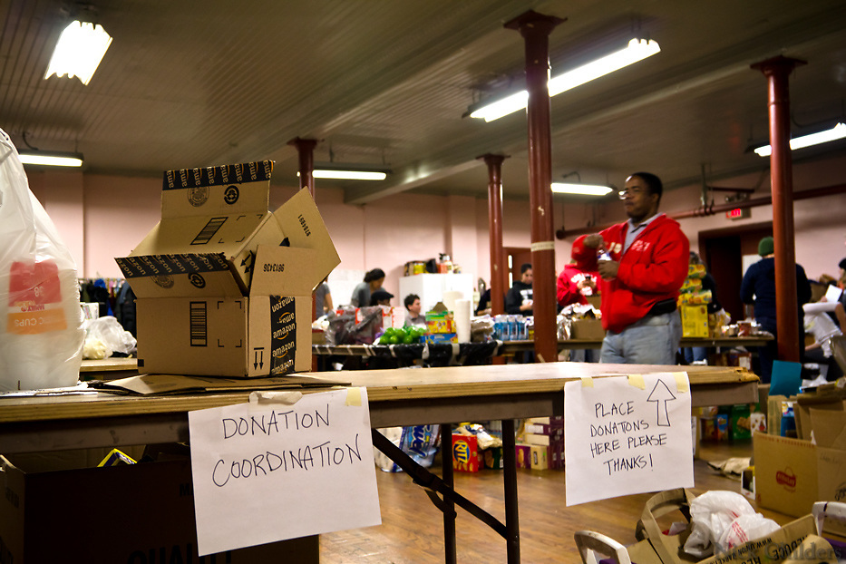 Hundreds of volunteers part of the &quot;Occupy Sandy&quot; relief effort are based out of the Church of St. Luke and St. Matthews in Clinton Hill, Brooklyn as they prepare food and donations to be shipped out to disaster areas devastated by Hurricane Sandy. Become a volunteer with &quot;Occupy Sandy&quot; HERE:<br /> <br /> http://interoccupy.net/occupysandy/