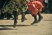 Women dancing during the celebration