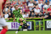 Forest Green Rovers George Williams(11) takes a free kick during the Pre-Season Friendly match between Forest Green Rovers and Bristol City at the New Lawn, Forest Green, United Kingdom on 24 July 2019.