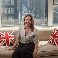 Mar0071832    AUGUST 4TH 2016--NEW YORK CITY--Antonia Romeo, the first female Consul General of New York in her office at the British Consulate in Midtown Manhattan.