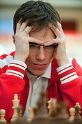 Mateusz Bartel from Poland during European Team Chess Championships 2013 at Novotel Hotel in Warsaw on November 10, 2013.<br /> <br /> Poland, Warsaw, November 10, 2013<br /> <br /> Picture also available in RAW (NEF) or TIFF format on special request.<br /> <br /> For editorial use only. Any commercial or promotional use requires permission.<br /> <br /> Mandatory credit:<br /> Photo by &copy; Adam Nurkiewicz / Mediasport