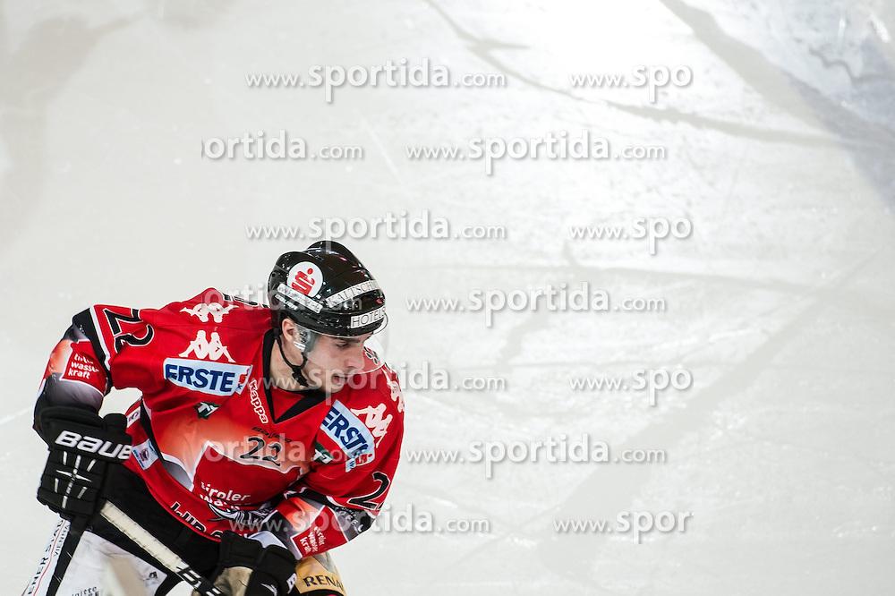 25.01.2013, Tiroler Wasserkraft Arena, Innsbruck, AUT, EBEL, HC TWK Innsbruck vs SAPA Fehervar AV19, Platzierungsrunde, im Bild Christoph Hoertnagl, (HC TWK Innsbruck, # 22) // during the Erste Bank Icehockey League placement Round match between HC TWK Innsbruck and SAPA Fehervar AV19 at the Tiroler Wasserkraft Arena, Innsbruck, Austria on 2013/01/25. EXPA Pictures © 2013, PhotoCredit: EXPA/ Eric Fahrner