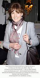 The COUNTESS CATHCART at a fashion show in London on 5th February 2003.<br />PGZ 10