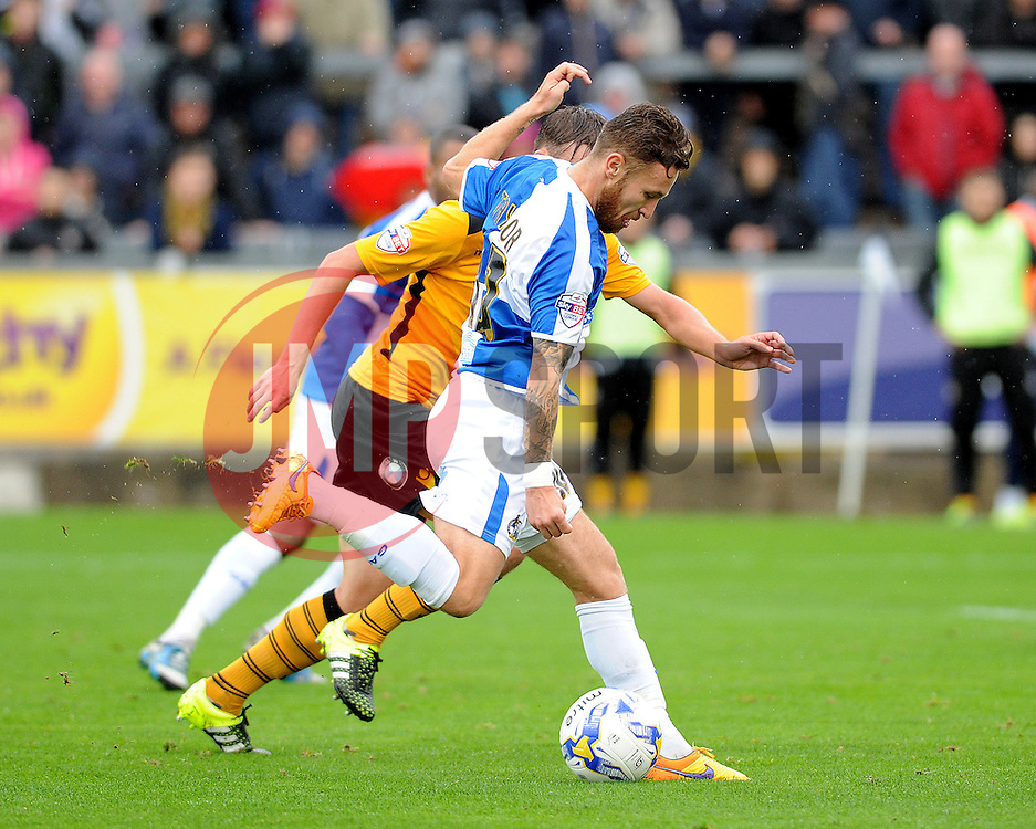 Matty Taylor of Bristol Rovers gets a shot away - Mandatory byline: Neil Brookman/JMP - 07966 386802 - 24/10/2015 - FOOTBALL - Memorial Stadium - Bristol, England - Bristol Rovers v Newport County AFC - Sky Bet League Two