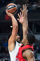 Real Madrid Gustavo Ayon and CSKA Moscu Kyle Hines during Turkish Airlines Euroleague match between Real Madrid and CSKA Moscu at Wizink Center in Madrid, Spain. October 19, 2017. (ALTERPHOTOS/Borja B.Hojas)