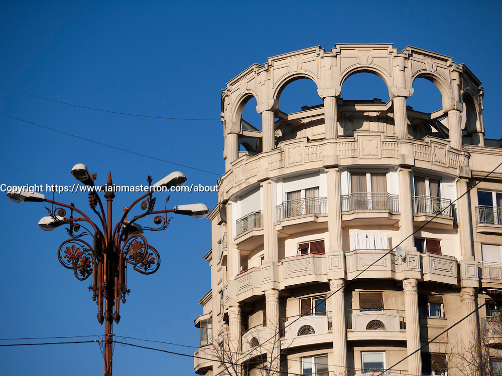 Communist era residential building on Boulevard Unirii   in Bucharest Romania