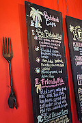 Menu at Betelnut Cafe.
