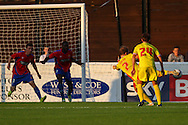 Danny Greem of Milton Keynes Dons (7) scores the opening goal during the Pre Season Friendly match at the London Borough of Barking and Dagenham Stadium, London<br /> Picture by David Horn/Focus Images Ltd +44 7545 970036<br /> 22/07/2014